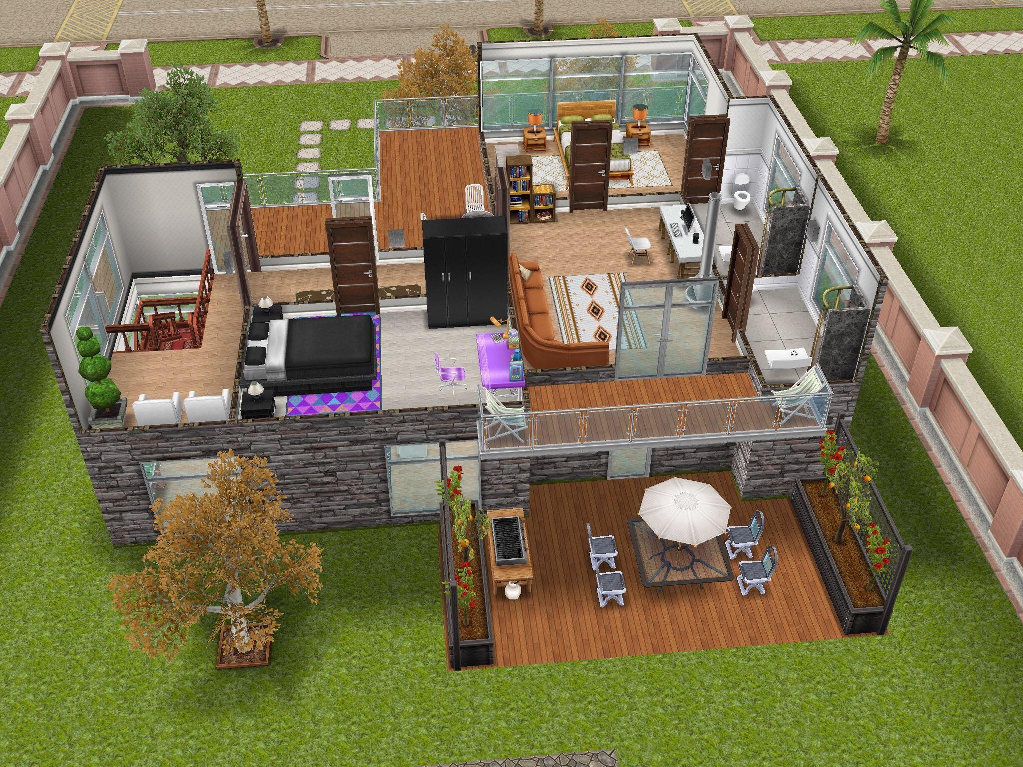 The Sims Free Play Modern House 2 Sims Thesims House Ideas Casas Arquitectura Disenos De Unas