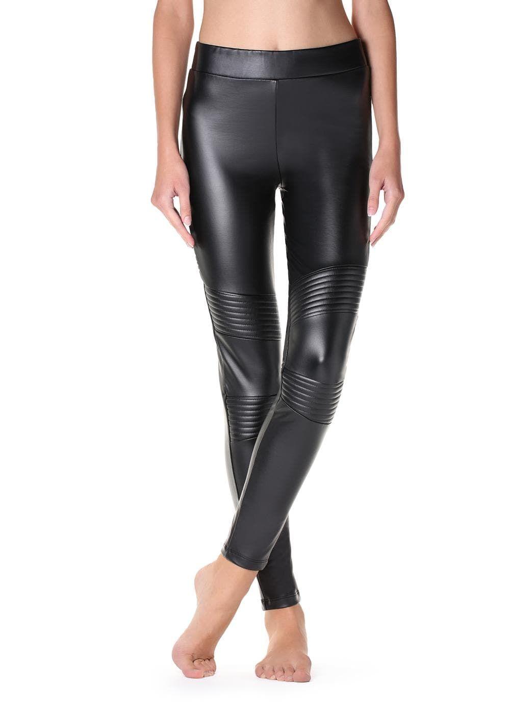 f3ae41eea Thermal leather-effect biker leggings - Calzedonia