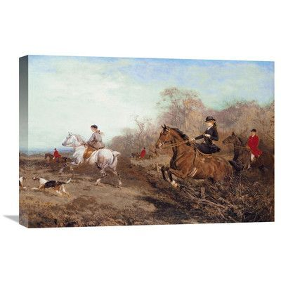 "Global Gallery 'Out for a Scamper' by Heywood Hardy Original Painting on Wrapped Canvas Size: 16"" H x 24"" W x 1.5"" D"