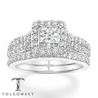 Kay Tolkowsky Bridal Set 1 3 4 Ct Tw Diamonds 14k White Gold