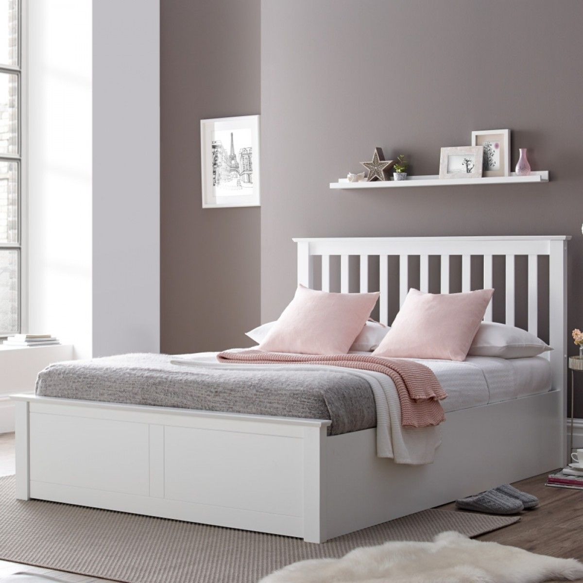 Best Malmo White Wooden Ottoman Bed Bed Frame Bed Designs 400 x 300