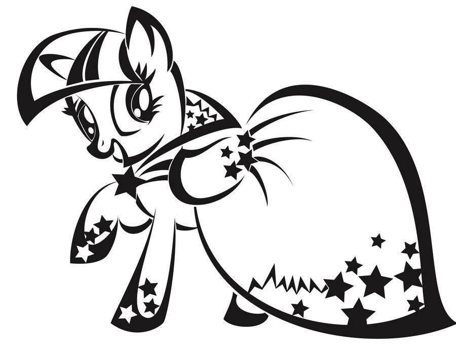 Twilight Sparkle Coloring Pages My Little Pony Coloring