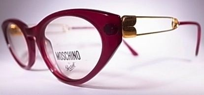 Moschino Safety Pin Eyewear. Circa 1990.