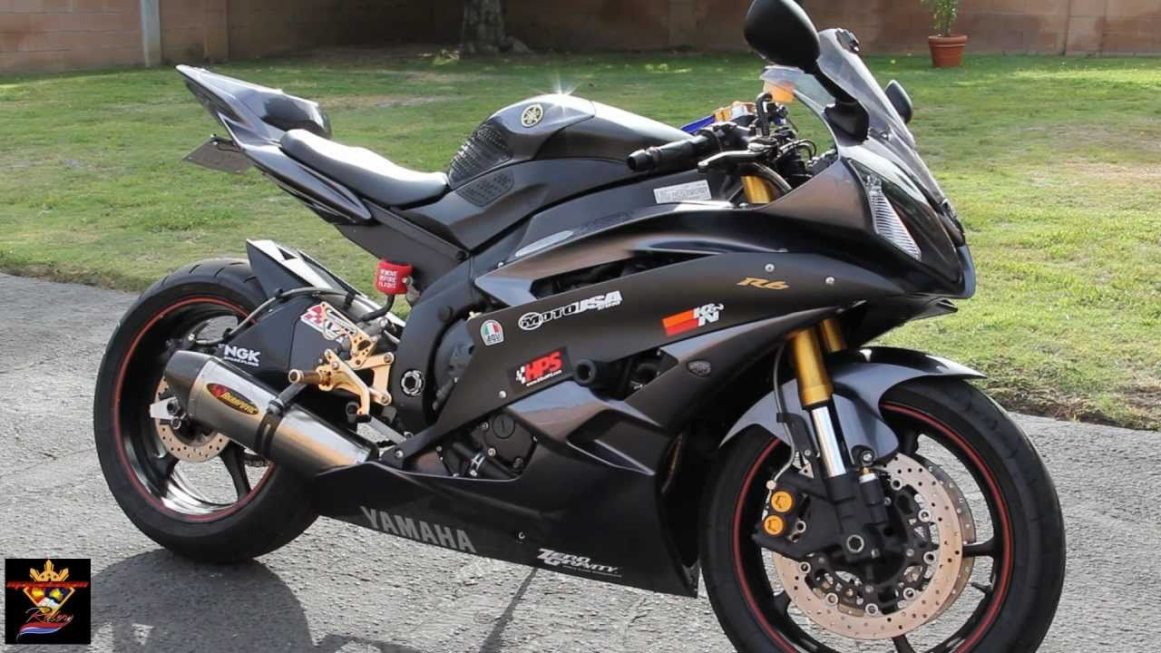 Yamaha YZF R6 With Akrapovic Full Titanium Exhaust System