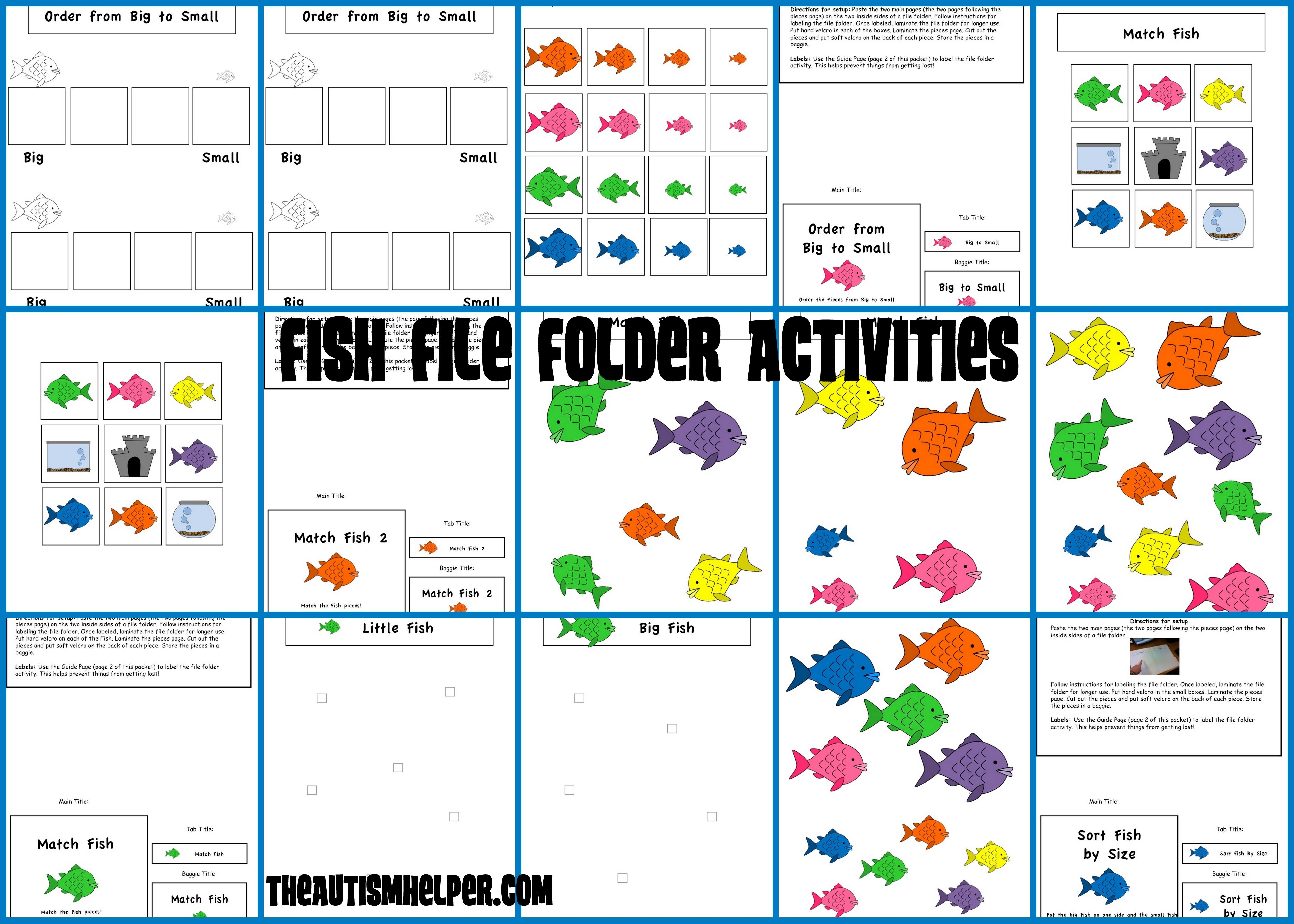 File Folder Activities To Match Sort Count And More