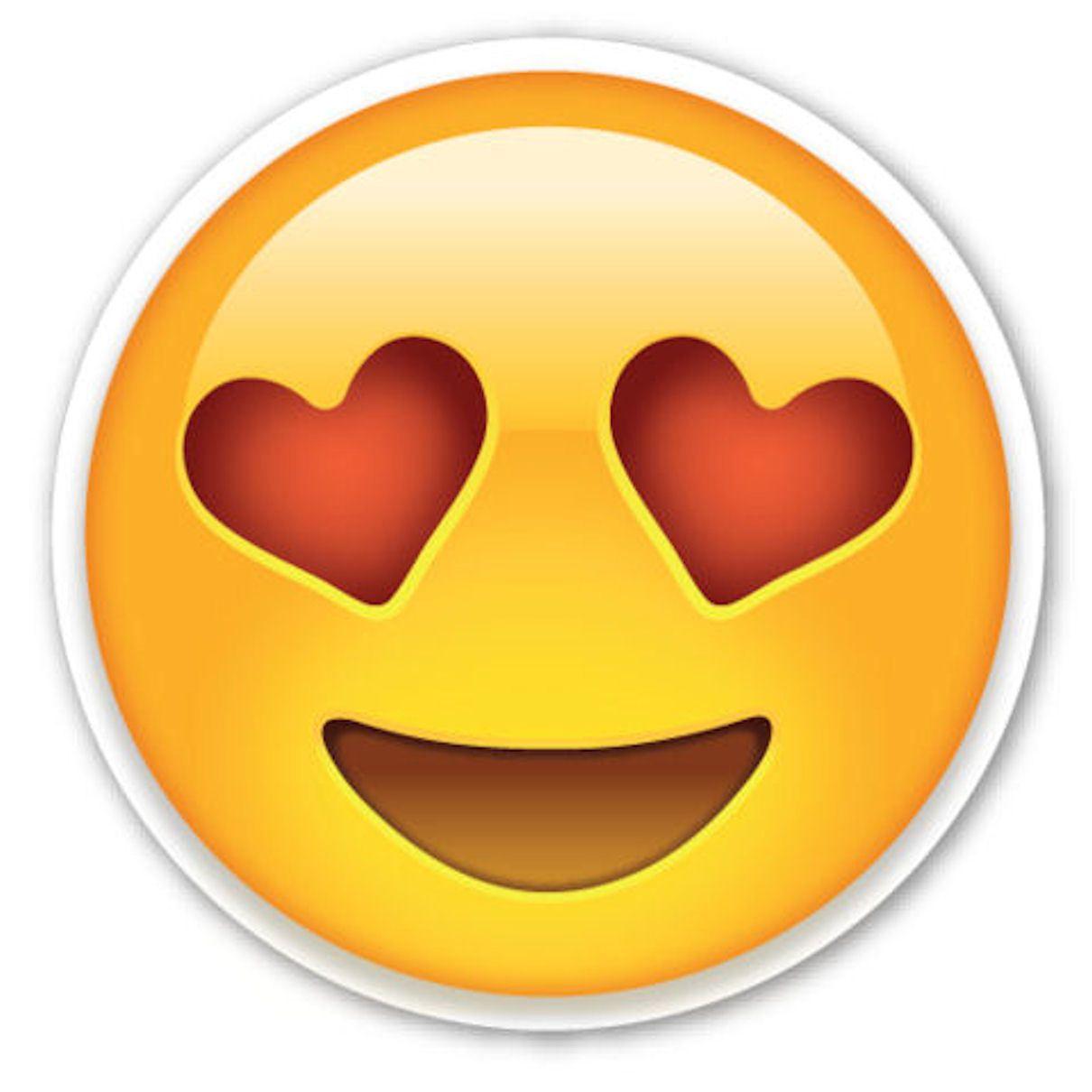 framed emoji print - love heart eyes face (picture poster emoticons