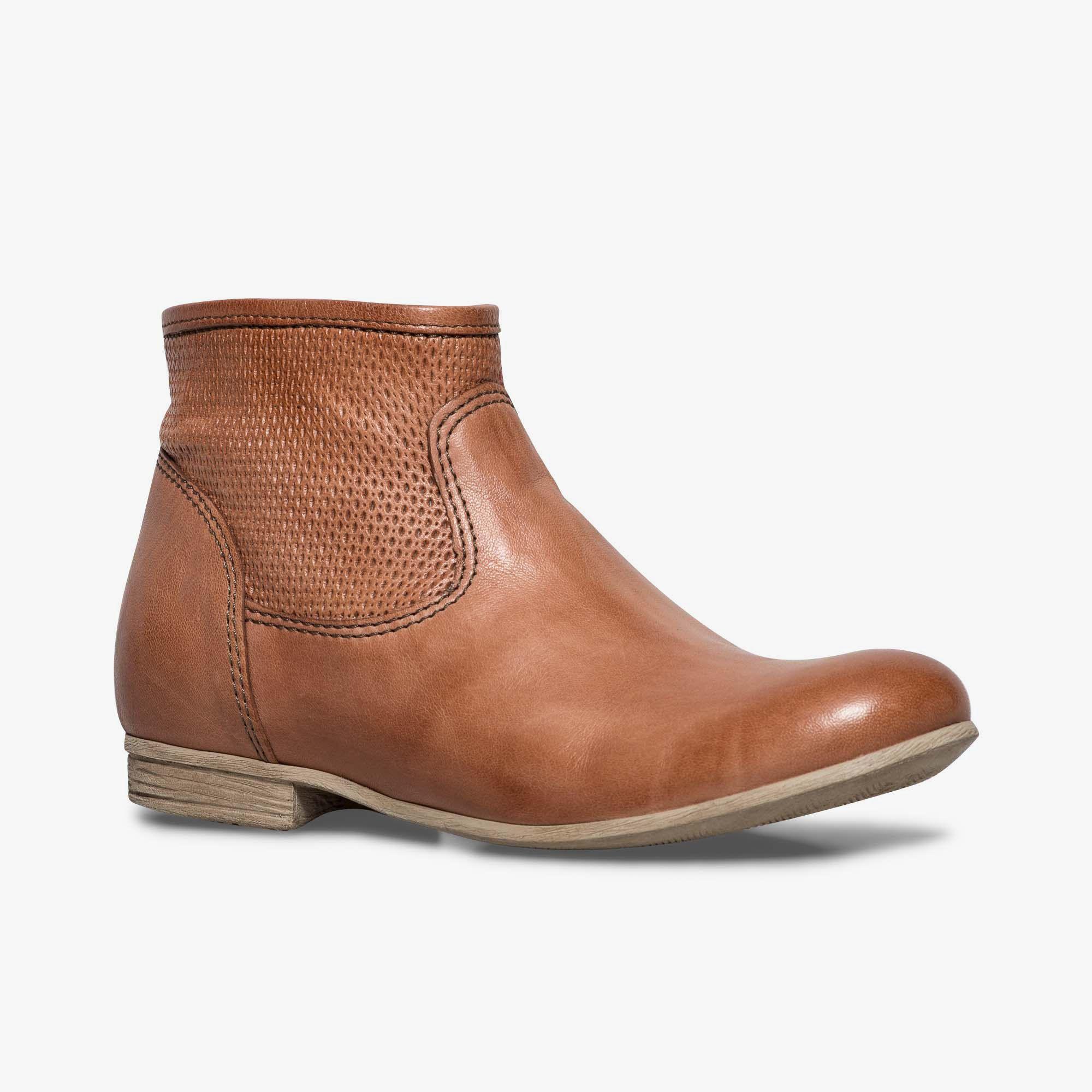 Boots marron en cuir