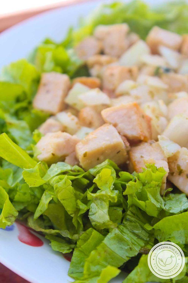 Receita De Salada De Frango Com Alface Um Prato Delicioso Para