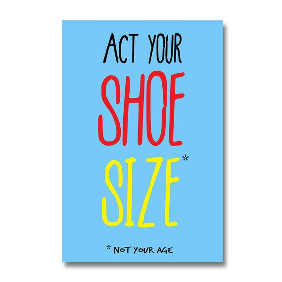 Funny birthday card Act Your Shoe Size greeting cards for my – Funny Birthday Card Ideas