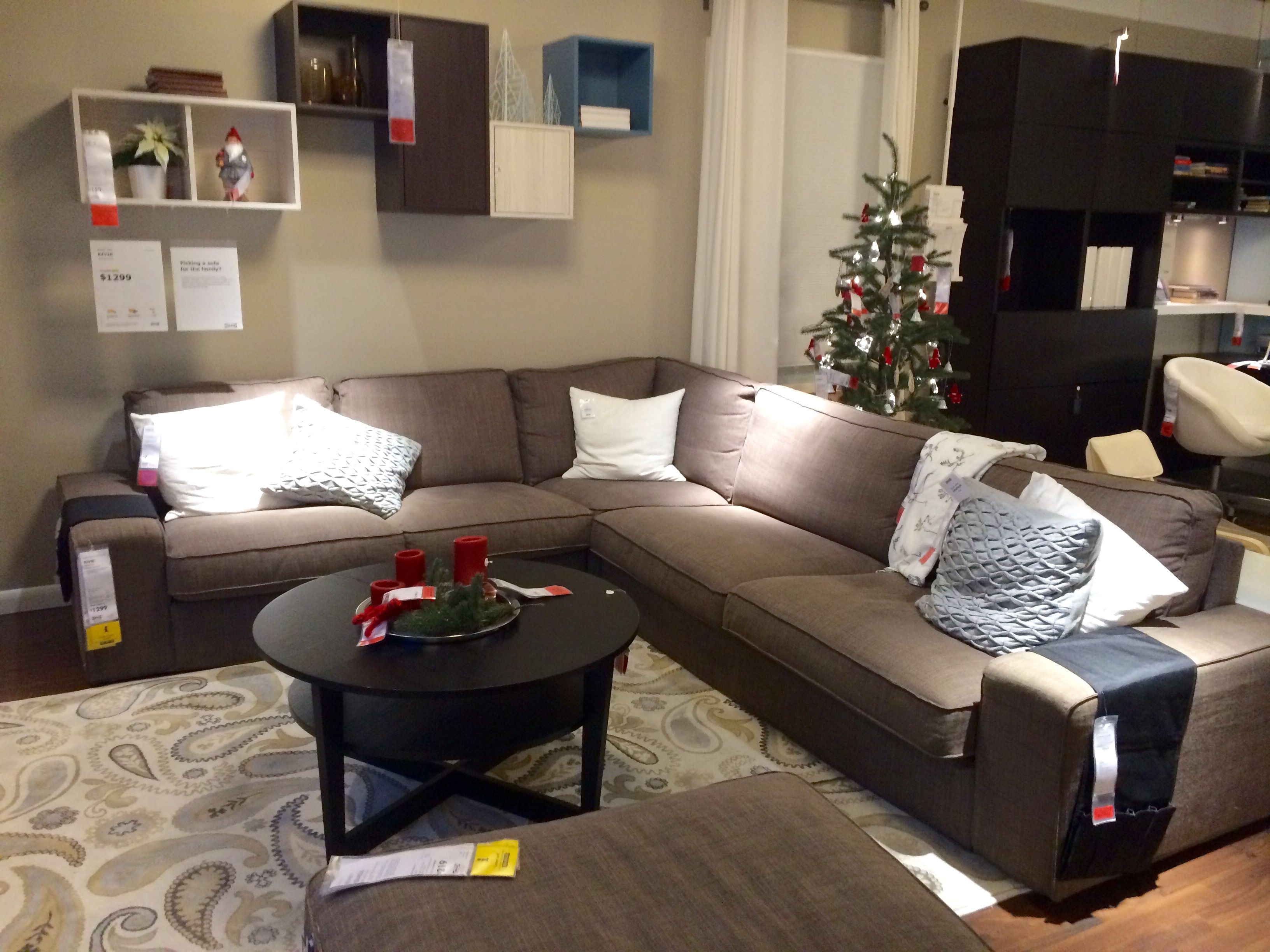 Decorating Living Room With Sectional Sofa: IKEA KIVIK Sectional Sofa.