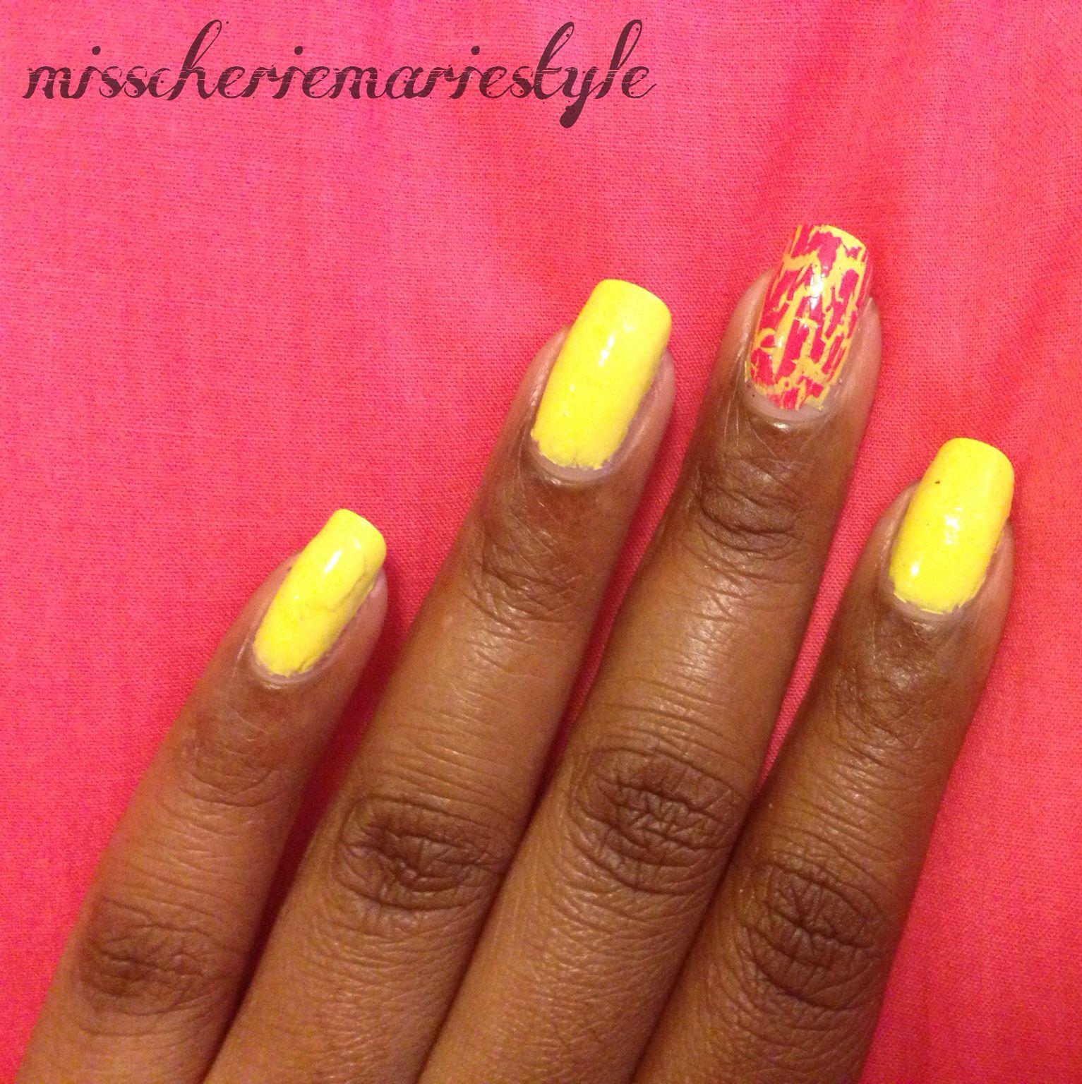 Bright Neon Yellow Nails, Yellow Nail Polish, Summer Nail Polish ...