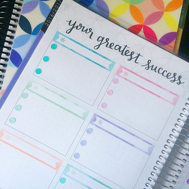 Setting up my new @erincondren planners (blog and personal ...