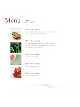 free restaurant menu template microsoft word