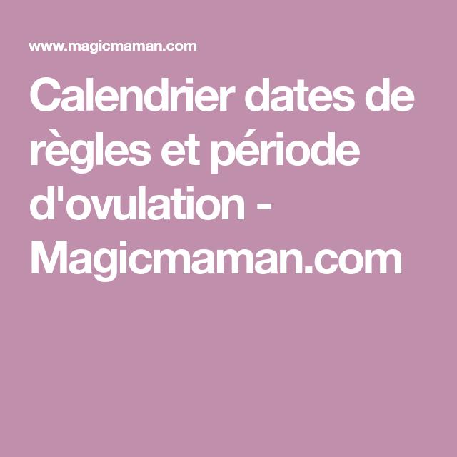 Calendrier Ovulation Magicmaman.Epingle Sur Controle Ovulation