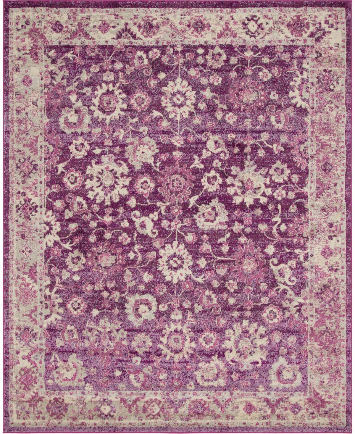 Bridgeport Home Lorem Lor3 Purple 8 X 10 Area Rug Reviews