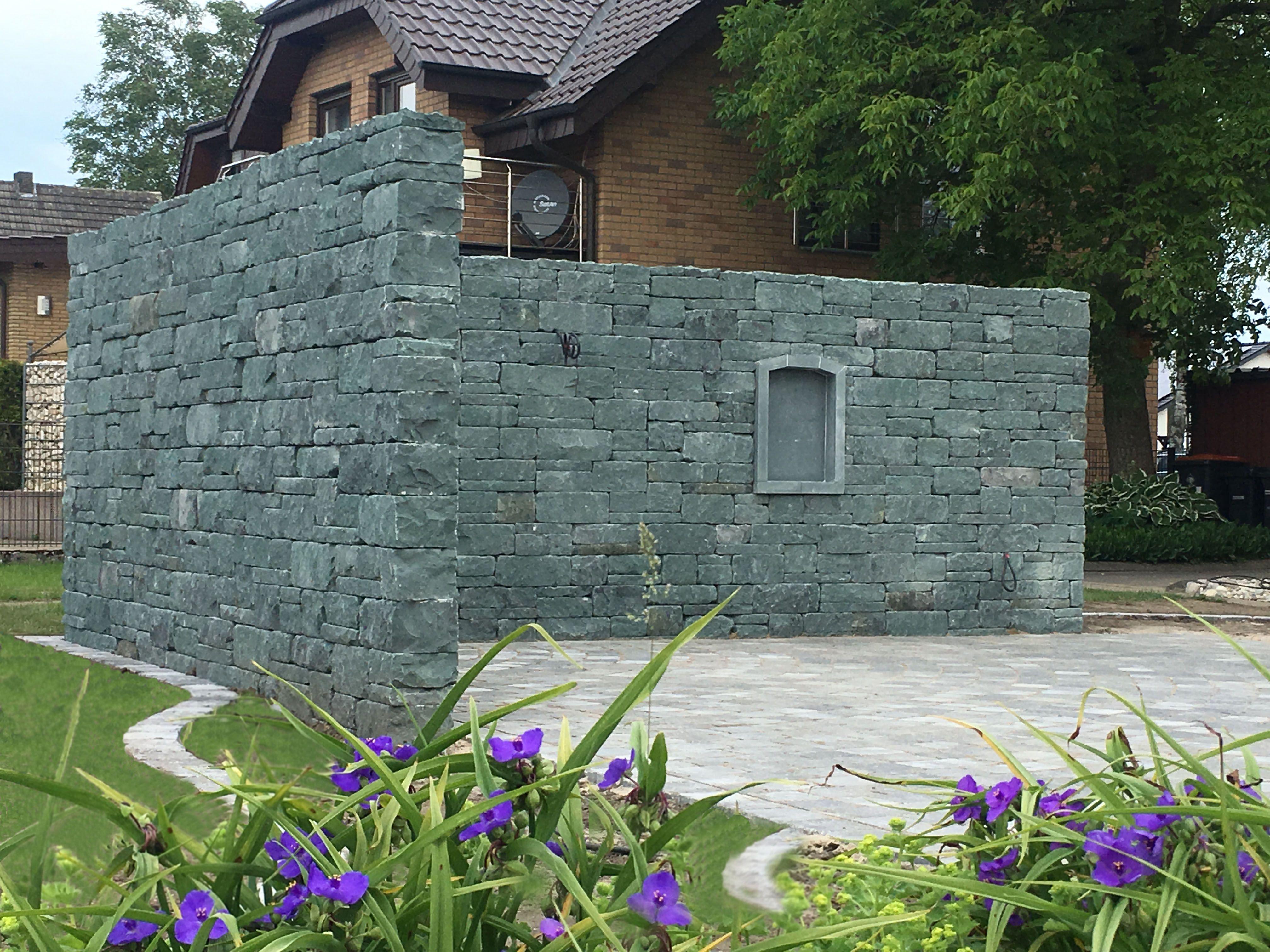 Naturstein Anrochter Kalksandstein Natursteinmauer Rustika Natursteine Traumgarten Garten