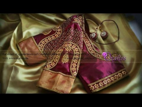 Maggam Work Designer Blouses With Price Cut Work Blouse Designs