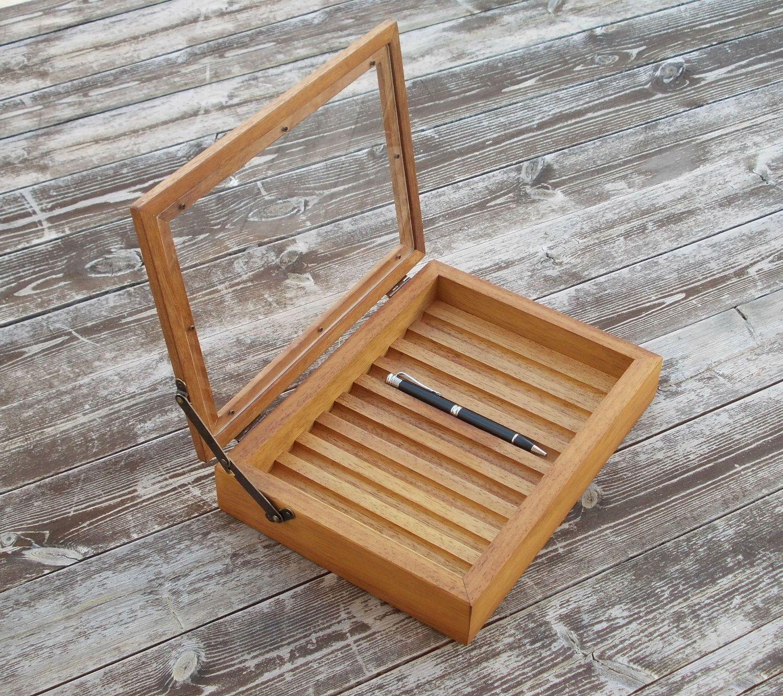 pen box pen holder wood pen holder for desk pen case pen display pen stand  pen