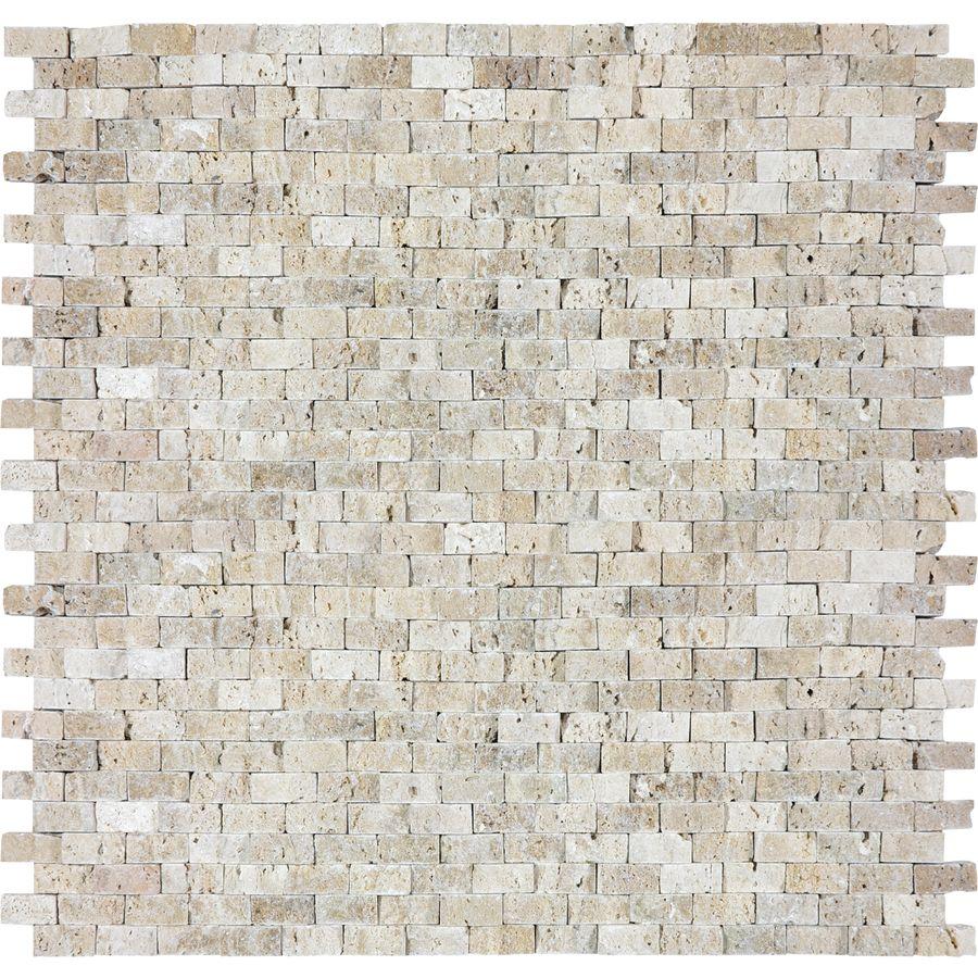 Shop Split Face Beige Travertine Natural Stone Mosaic