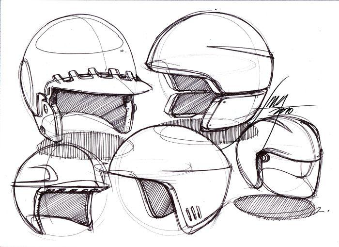Pin By Niki Verbrugghe On Helm Helmet Sketch Industrial Design Sketch Helmet Design Sketch