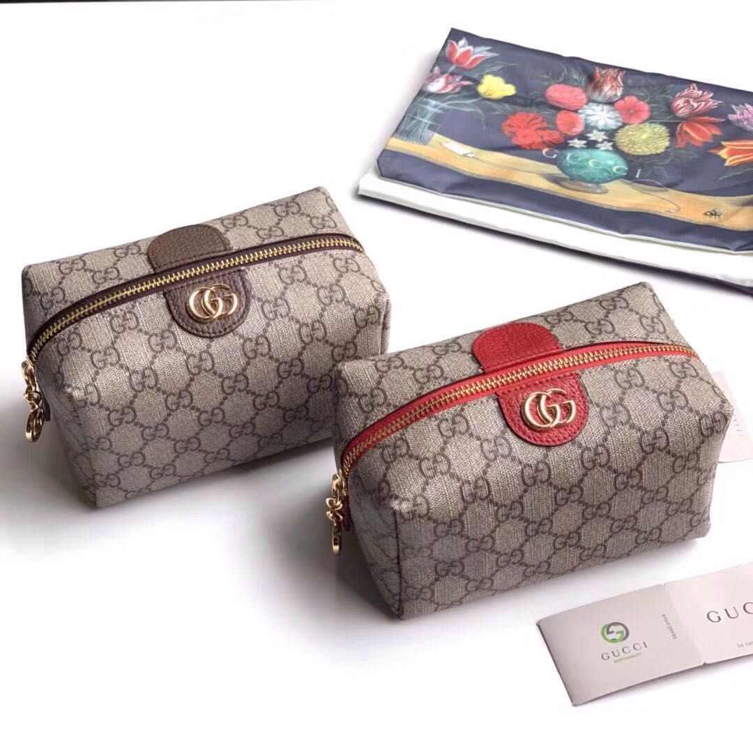 a912577e8bb0 Gucci Ophidia GG cosmetic case Gucci Crossbody Bag, Clutch Bag, Replica  Handbags, Handbags