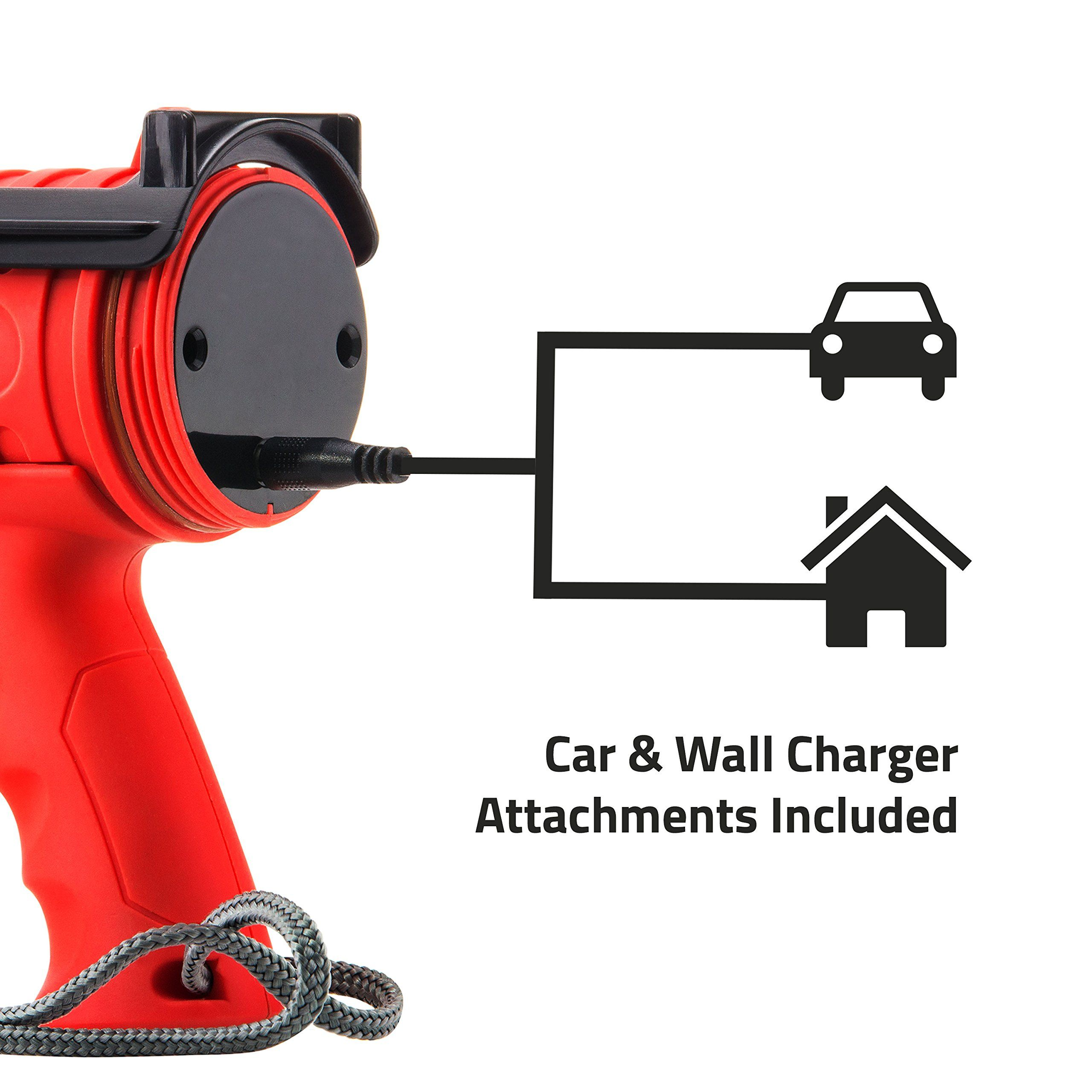 Spotlight Detachable Red Light Filter NoCry 18W Waterproof Rechargeable Flashlight with 1000 Lumen LED Wall and Car Charger Attachments