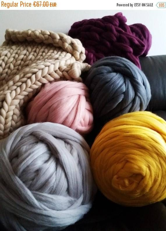 Giant Chunky Yarn Chunky Yarn Arm Knitting Yarn 100 Merino Wool