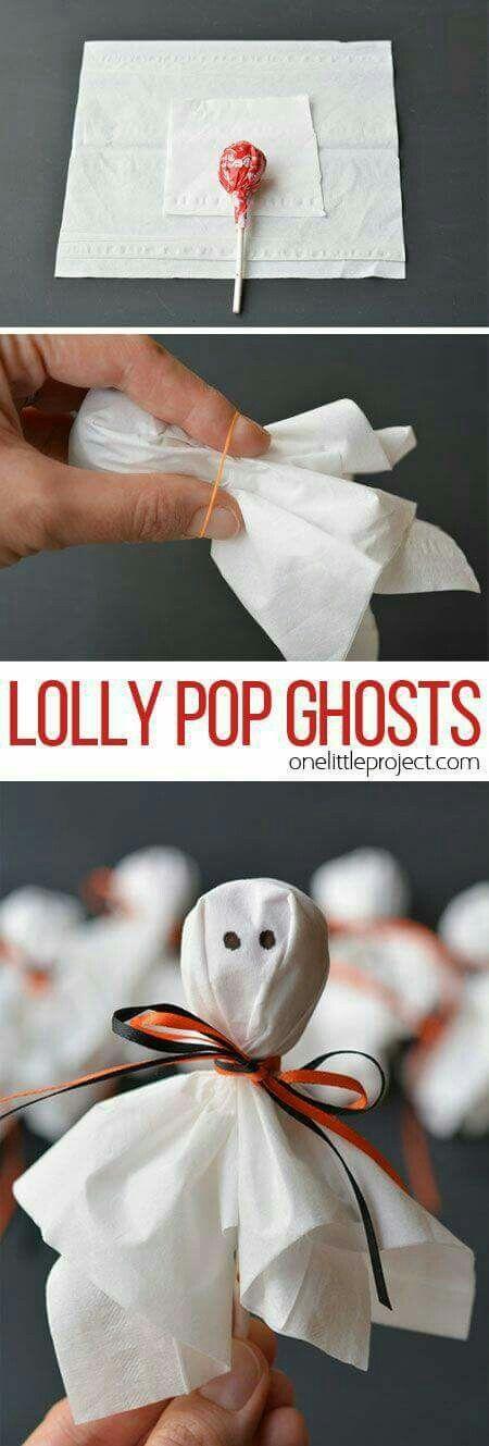 Old school lolly pop ghosts Halloween Pinterest School - halloween treat ideas for school parties