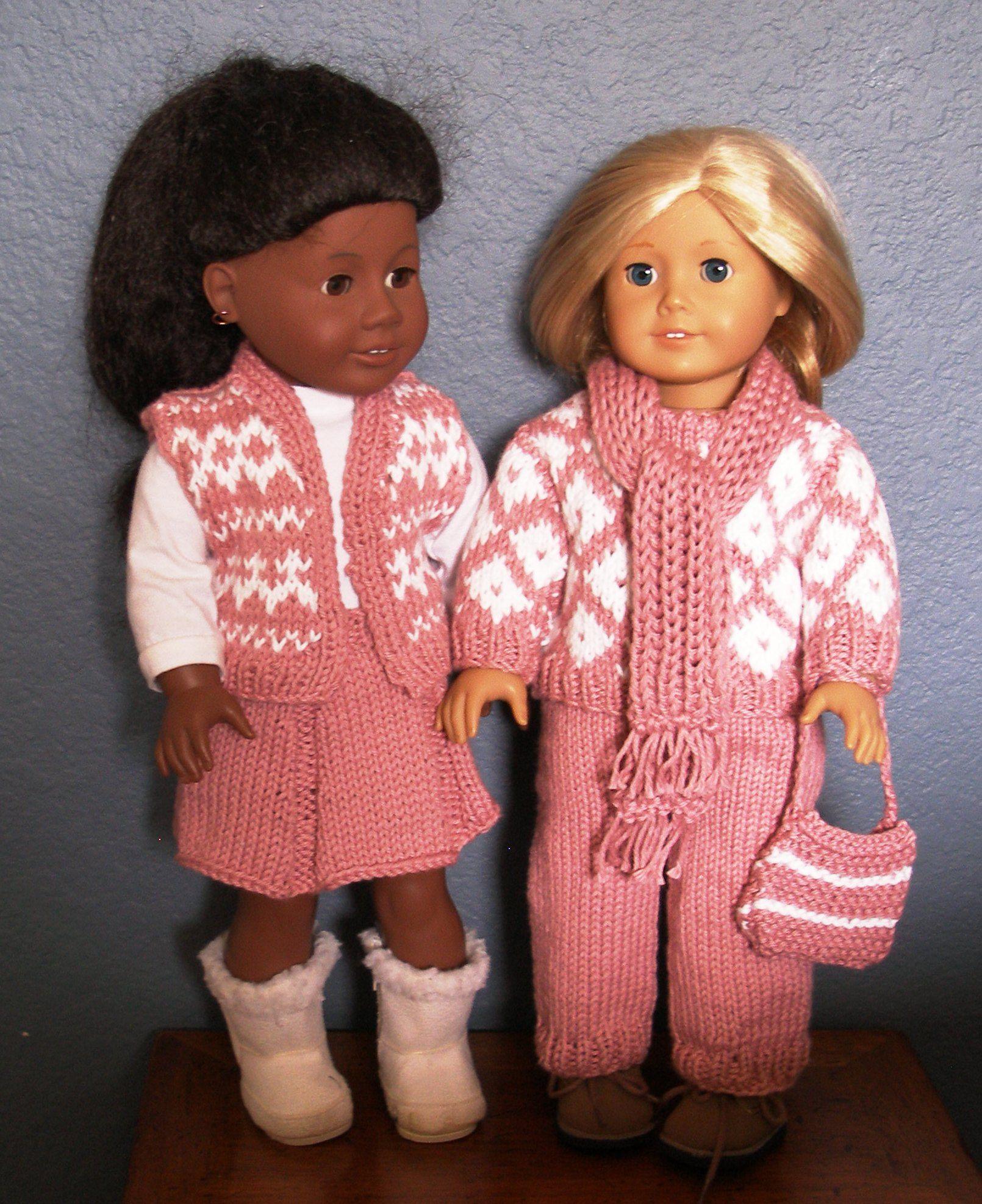 Attractive Knitting Patterns For American Girl Dolls Festooning ...