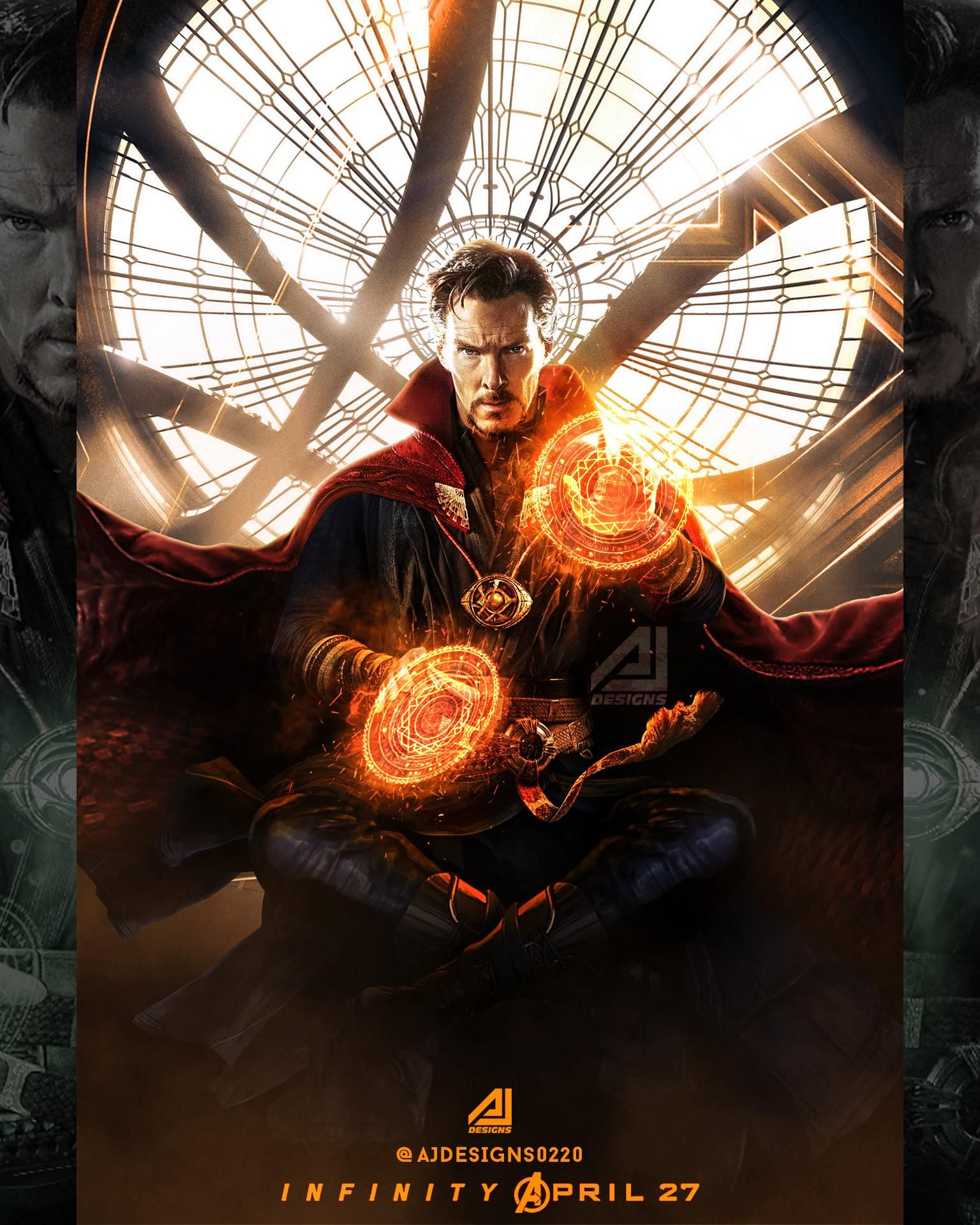 24x36 Doctor Strange Movie Poster Benedict Cumberbatch - Marvel Mikkelsen v2