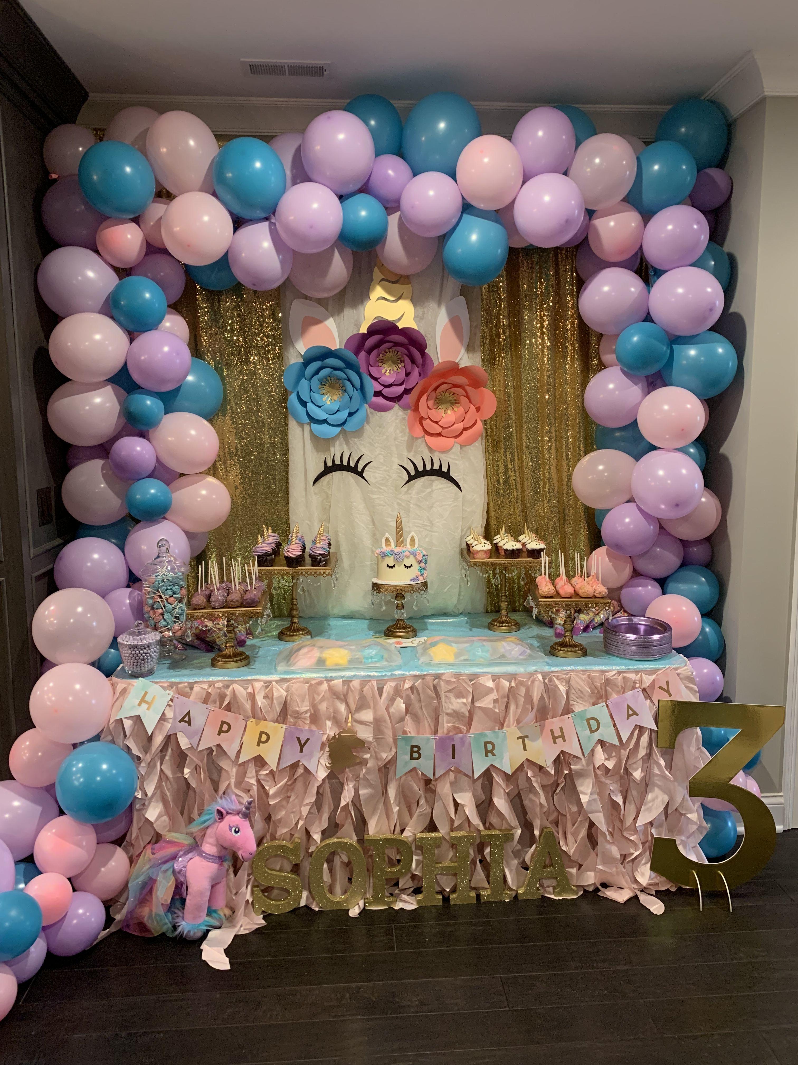 Unicorn Birthday Party Unicorn Themed Birthday Party Unicorn Birthday Party Decorations Unicorn Birthday Decorations