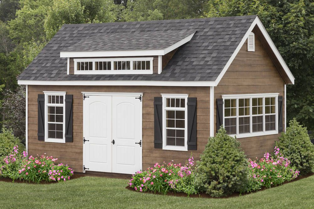 Amish Built 12x20 A Frame Storage Shed Lap Siding With Garden Elite Package Outdoor Garden Storage Shed Homes Large Sheds