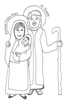 Saints Coloring Pages And Murals The Holy Family Family