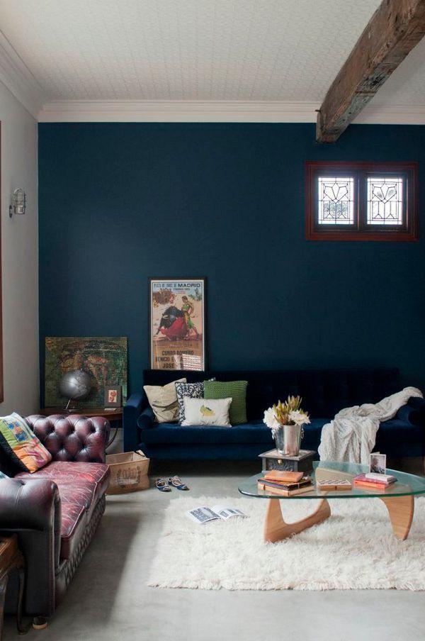 Donkerblauw in het interieur | wonen | Pinterest | Blue walls ...
