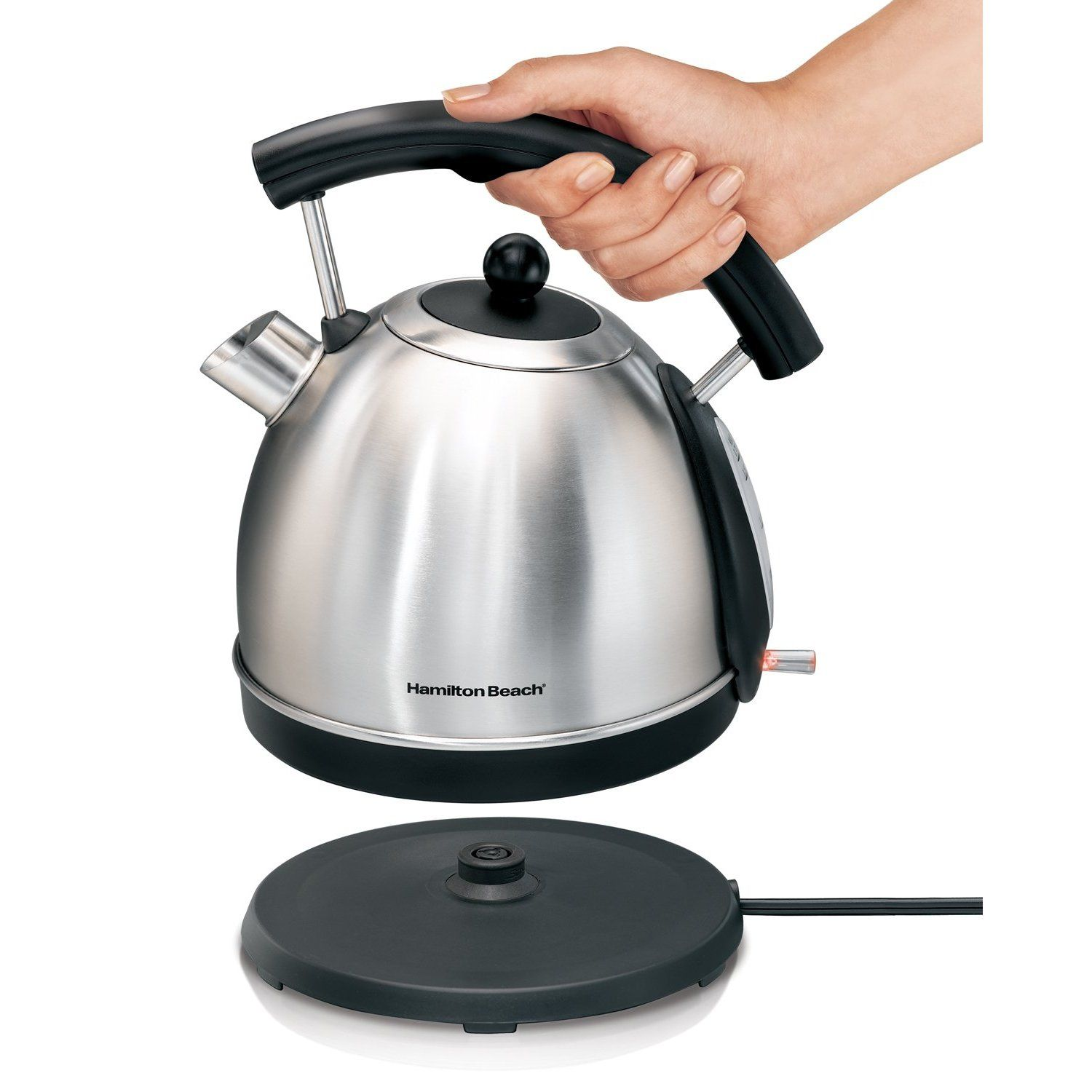 Hamilton beach cup stainless steel electric kettle busy