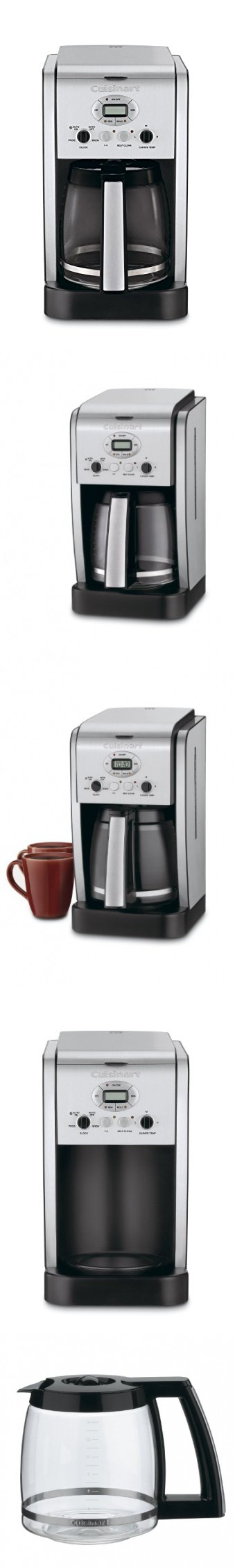 Cuisinart Dcc 2600 Brew Central 14 Cup Programmable Coffeemaker With Glass Carafe Stainless Steel Certified Refurbished Glass Carafe Coffee Maker