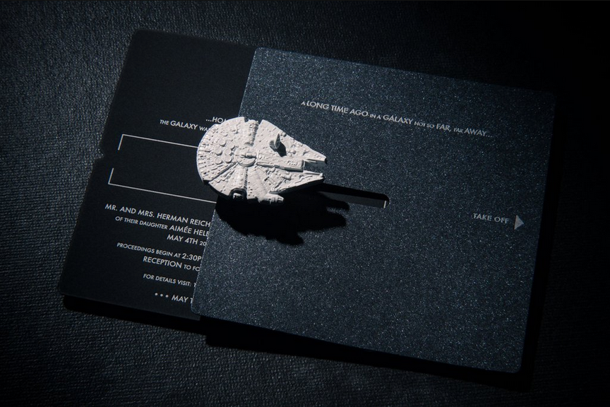star wars wedding invitation trumps all other invitations,