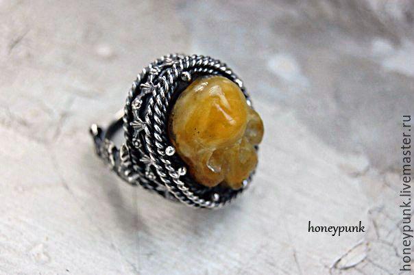 Купить Кольцо Time Of Amber серебро, янтарь - желтый, кольцо с янтарем