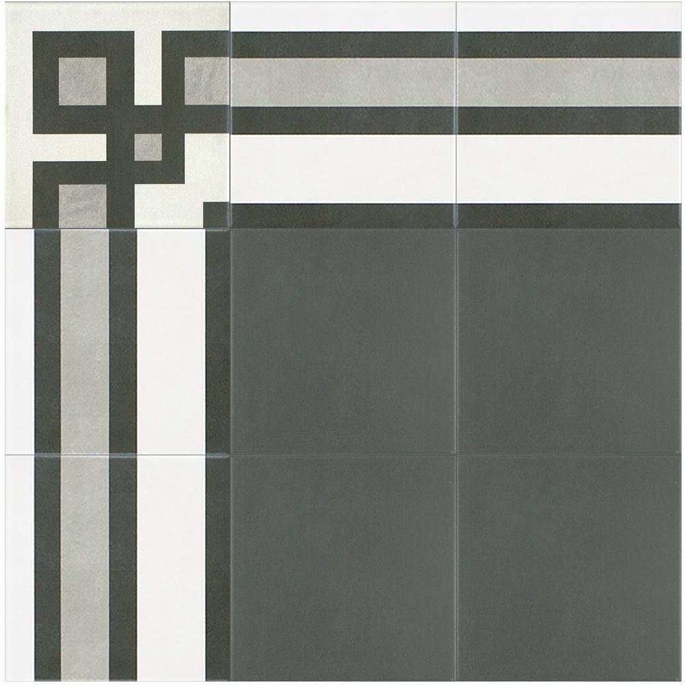 Merola Tile Twenties Frame 7 3 4 X7 3 4 Ceramic F W Tile Frc8twef The Home Depot Merola Tile Durable Tiles Ceramic Floor