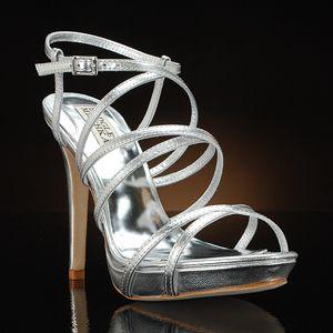 badgley mischka idol-silver silver  Wedding Shoes