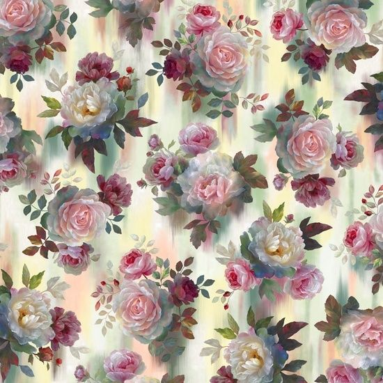 Rosewater ~Large Roses Cotton Fabric by Quilting Treasures - Sue's ... : rose cottage quilt shop - Adamdwight.com