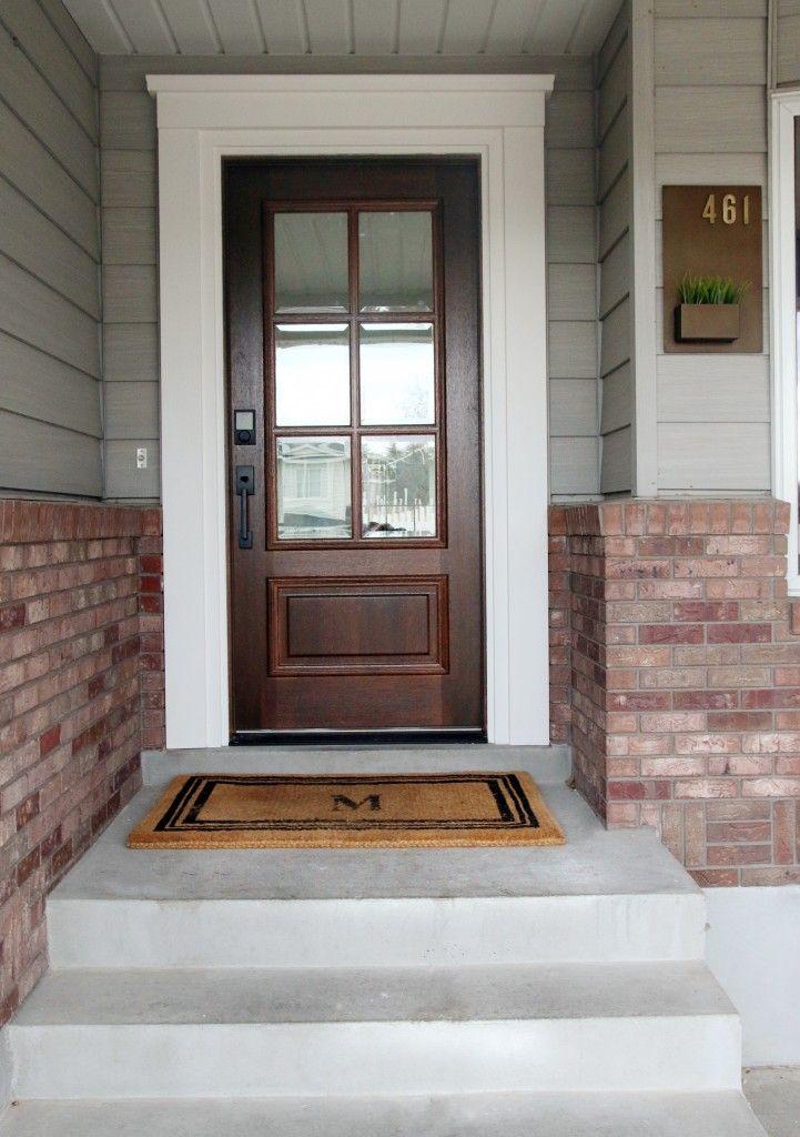 Before and After Our New Front Door! Exterior door trim
