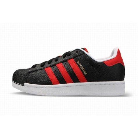 adidas schoenen rood zwart wit