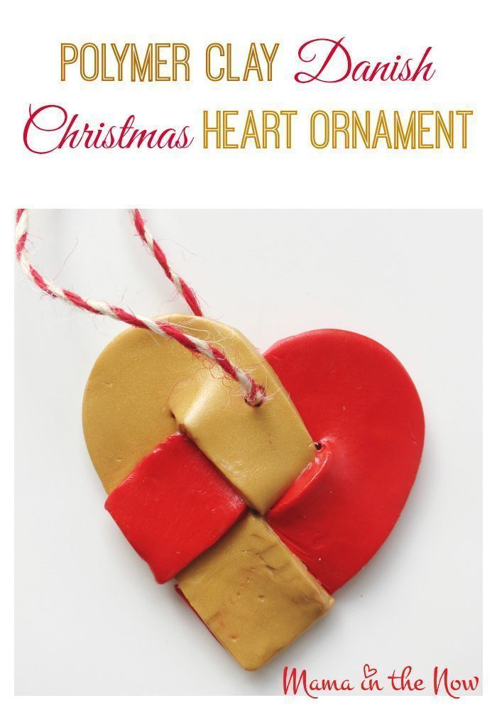 Take a look at this incredible Polymer clay Danish Christmas heart ornament This beautiful decoration is kidfriendly and fun for kids of all ages to make With just a few...