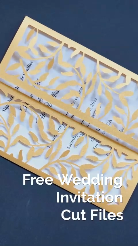 Free Cricut Wedding Invitations