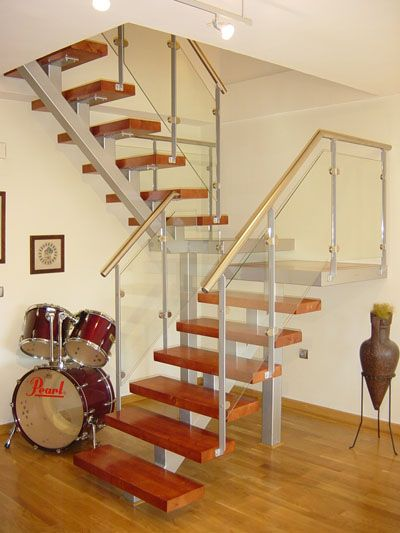 escaleras de hierro y madera modernas - Buscar con Google - decoracion de escaleras