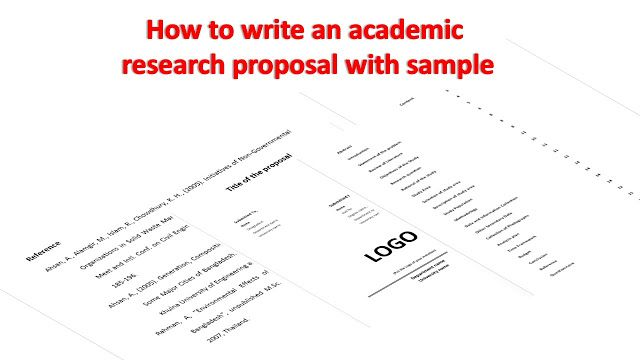 Minciter How To Write An Academic Research Proposal With Sa