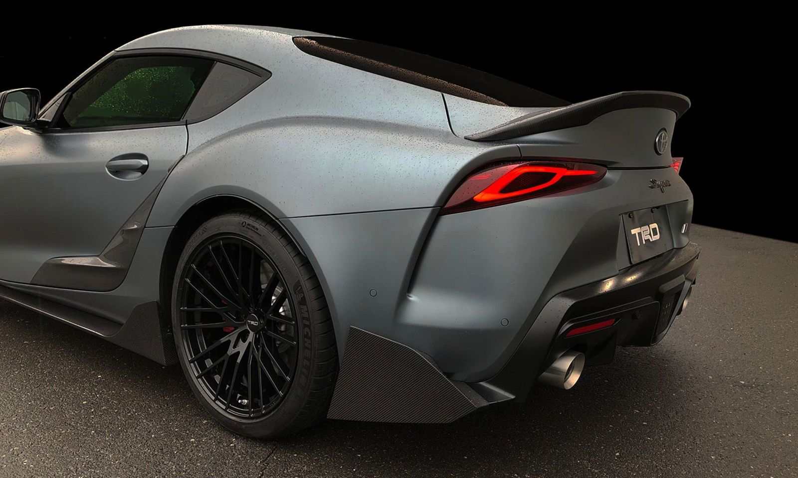 The Toyota Supra TRD Concept Shows Off a Spoiler and Whatever 'Carbon Fiber Garnish' Is