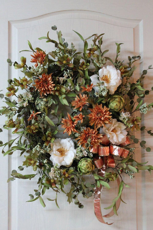 Large Front Door Wreaths | Front Door Wreath, Summer Wreath, Fall ...