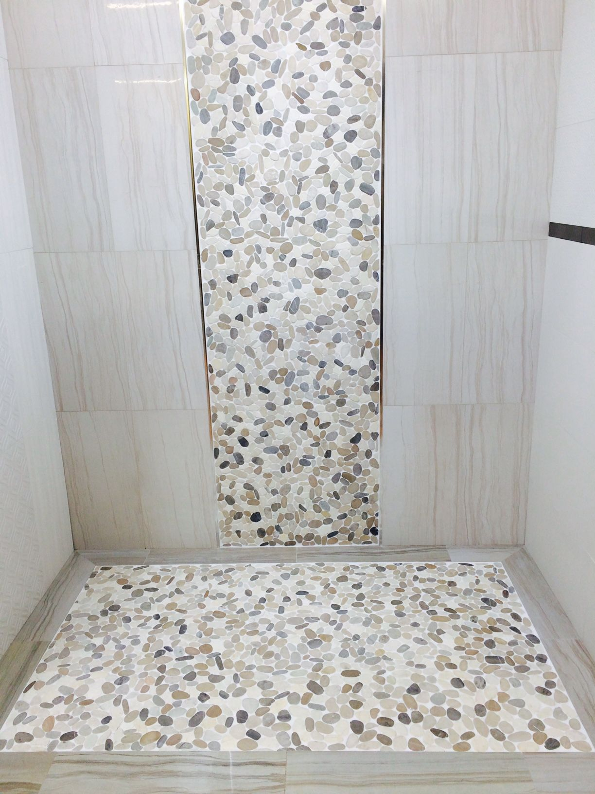 Action And Venetian Pebbles Medici Capell Flooring And Interiors In - Bathroom remodel boise